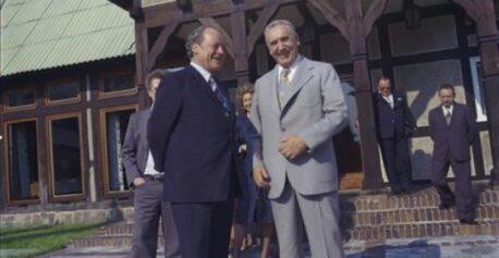 Willy Brand i Edward Gierek w Łańsku, 1977 rok